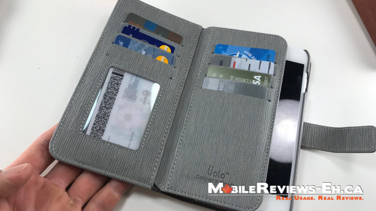 8 Cards plus cash - UOLO 2 in 1 Magnetic Folio iPhone 7 Case Review
