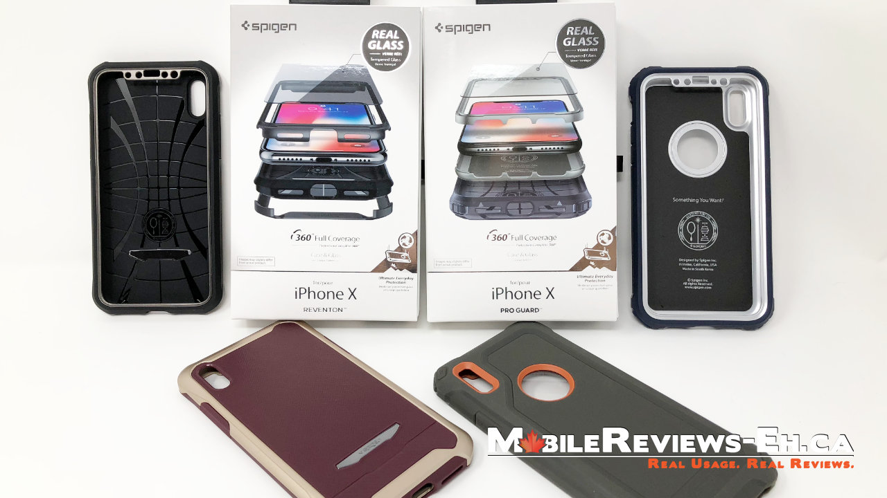 new styles 2ef20 77769 Spigen Reventon and Pro Guard iPhone X Review - Mobile Reviews Eh
